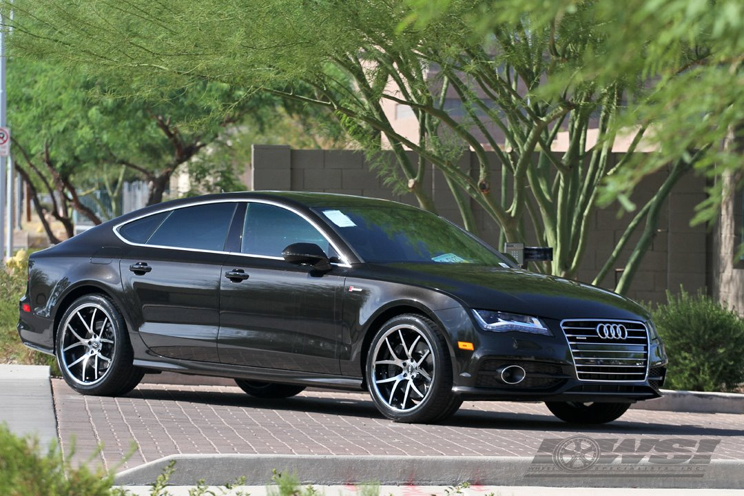 Giovanna Monza Machined Black On Audi A7