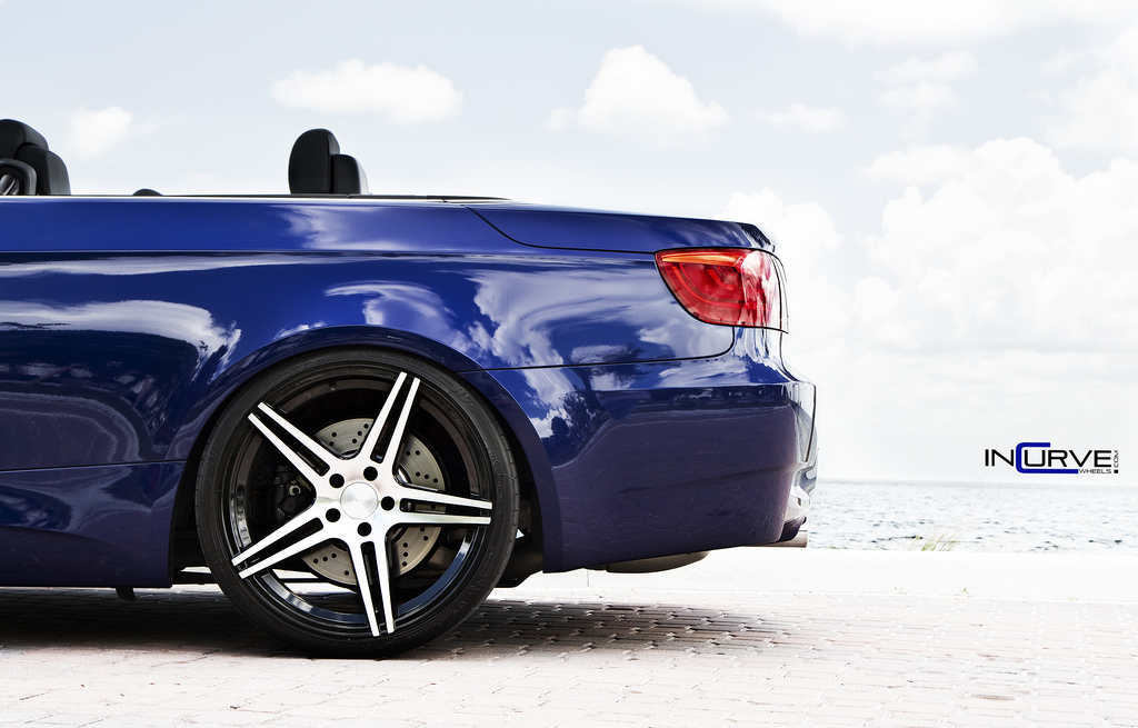 Incurve Wheels IC-S5 Machined Black on BMW M3 E93 Cabrio