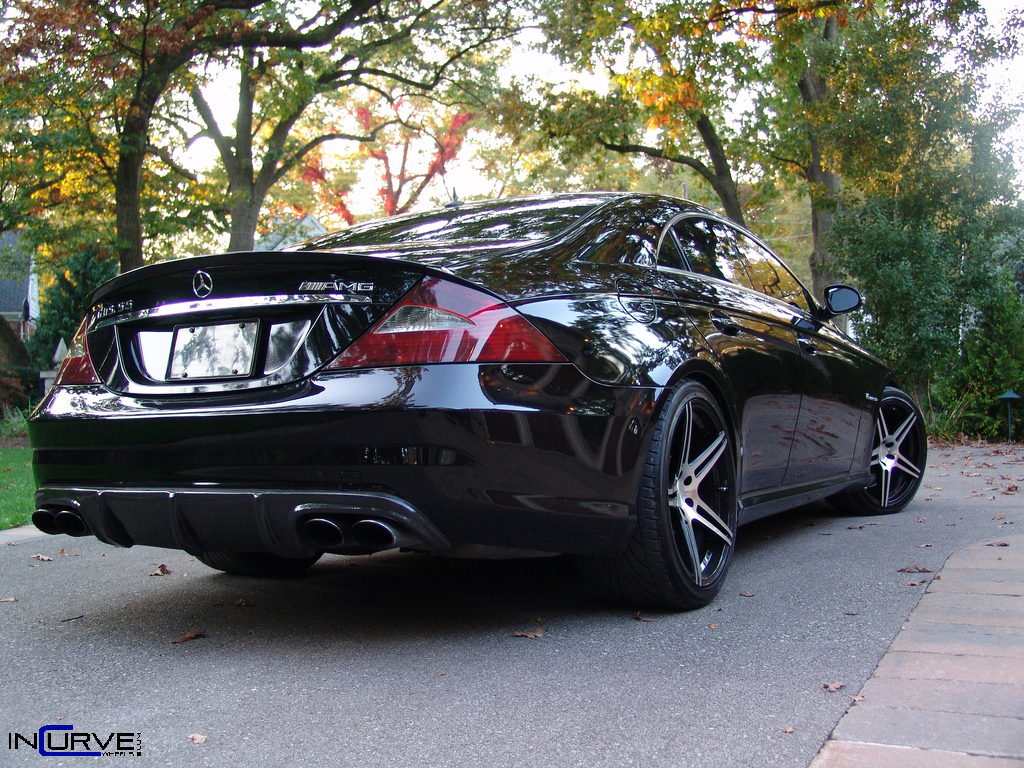 Incurve Wheels IC-S5 Machined Black on Mercedes Benz CLS55 AMG