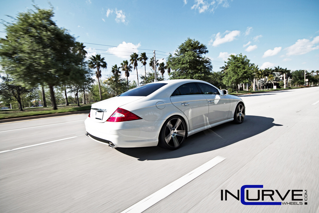 Incurve Wheels IC-S5 Machined Black on Mercedes Benz CLS550