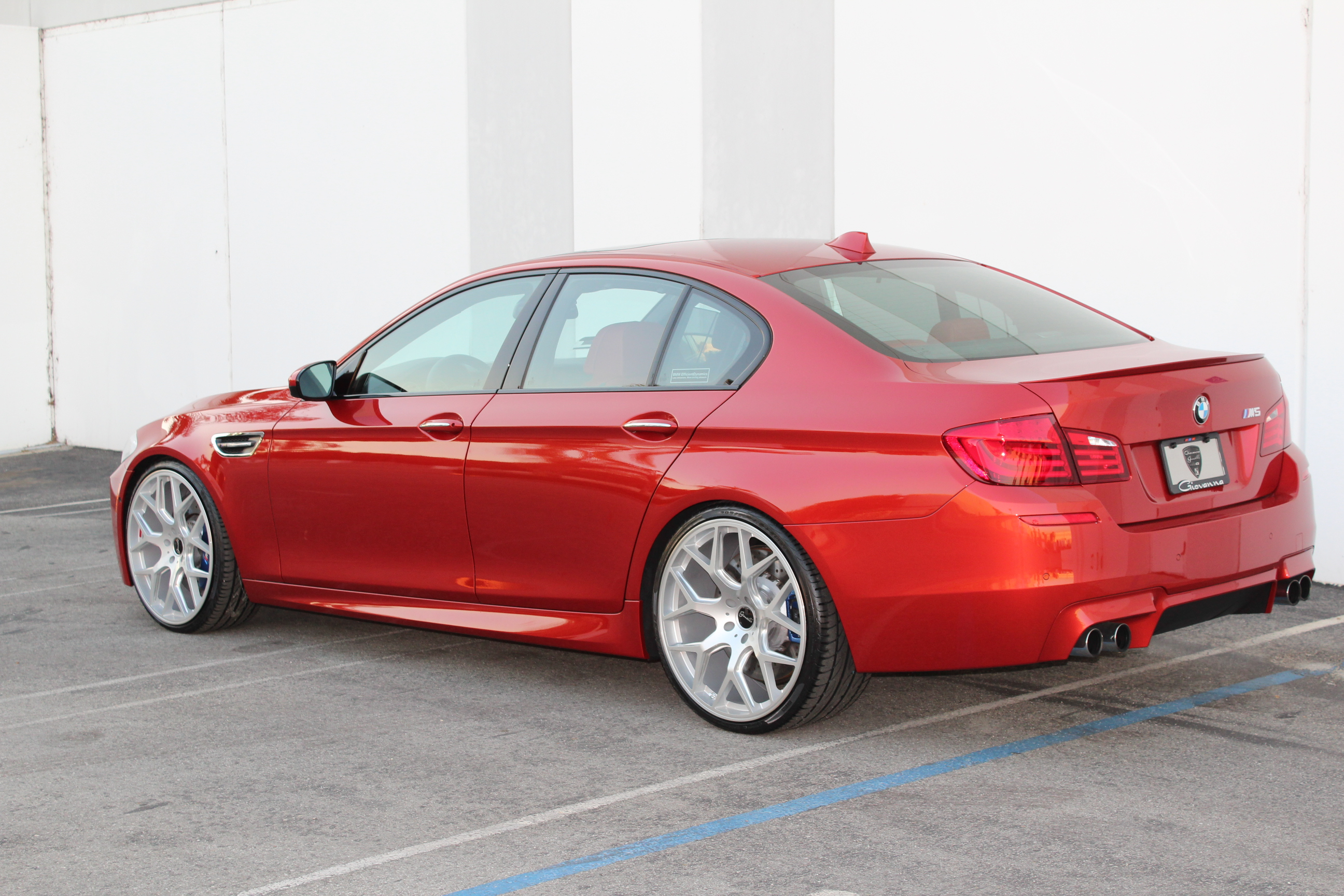 Gianelle Puerto Silver on BMW M5 F10