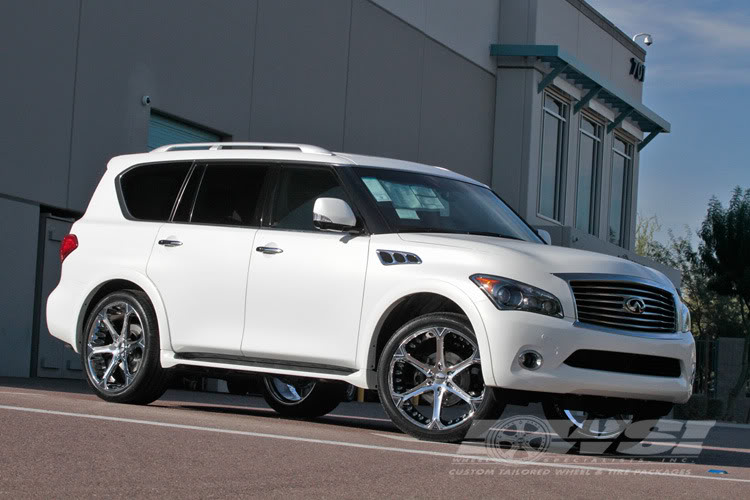 Giovanna Dalar-6V Chrome on Infiniti Qx 56