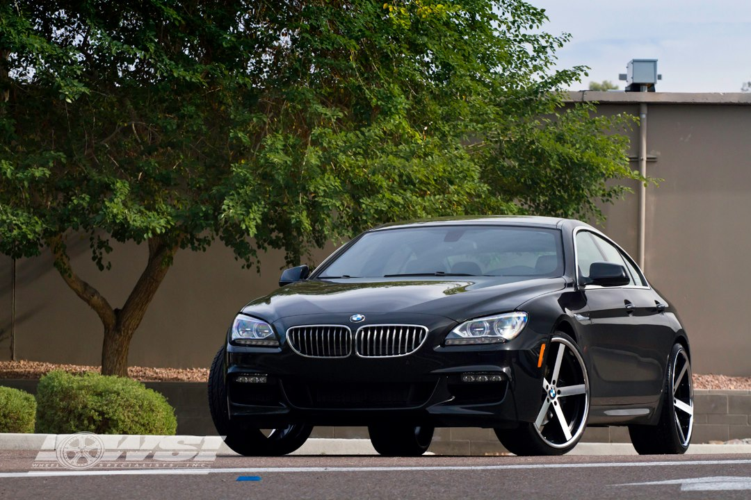 Giovanna Mecca Machined Black on 2012 BMW 6 Series