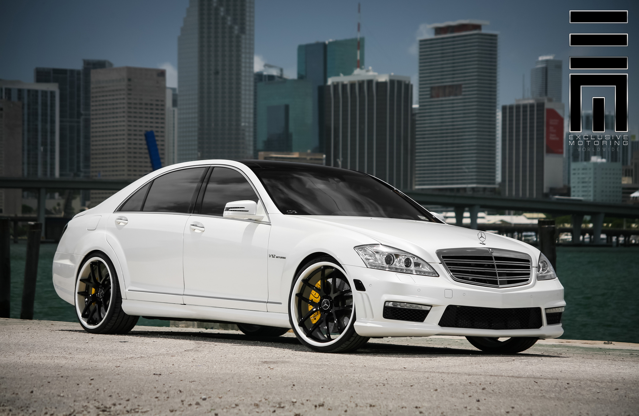 Giovanna Monza Custom Painted on Mercedes Benz  S65AMG