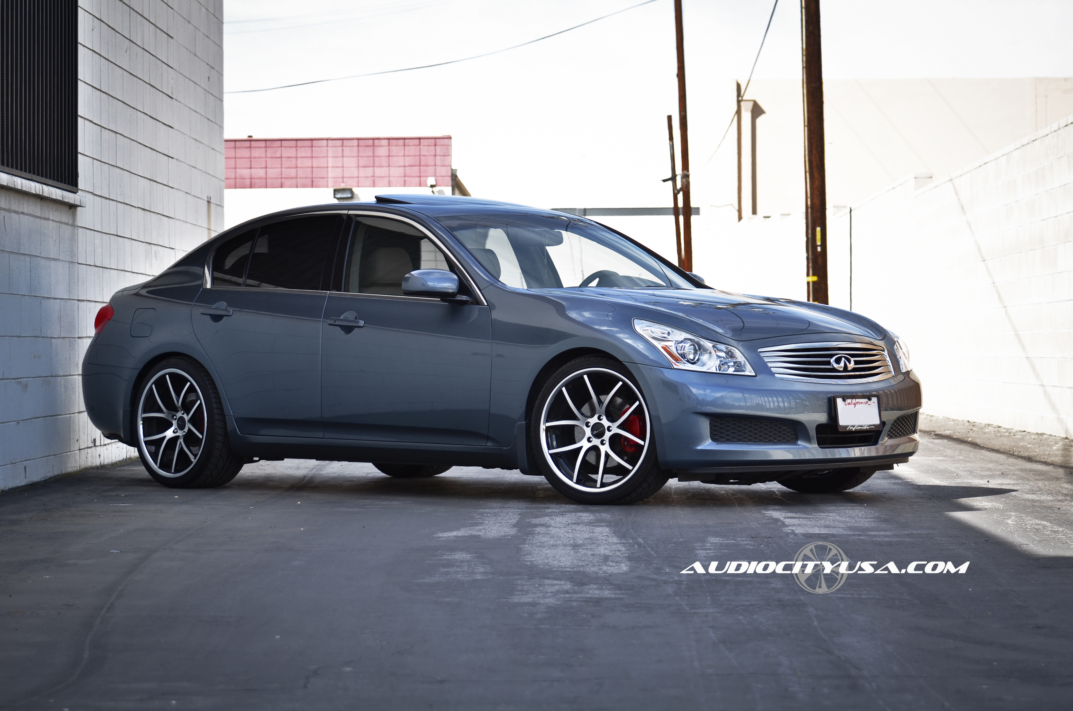 Giovanna Monza Machined Black 20 on Infiniti G 37