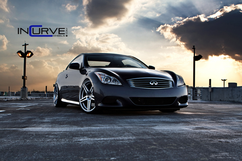 Incurve Wheels IC-S5 Silver On Infiniti G37S