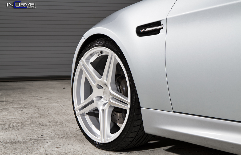 Incurve Wheels IC-S5 Silver on BMW M3 E90