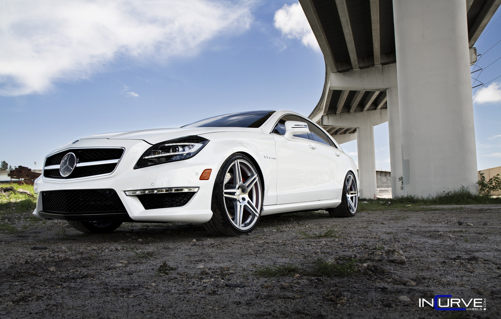 Incurve Wheels IC-S5 Silver on Mercedes Benz CLS63AMG