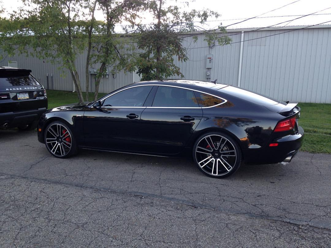 Koko Kuture Massa 7 Machined Black on Audi A7
