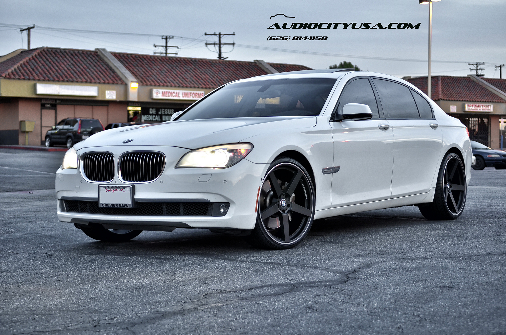 Koko Kuture Sardinia-5 r22 matte black on 2011 BMW 750 LI