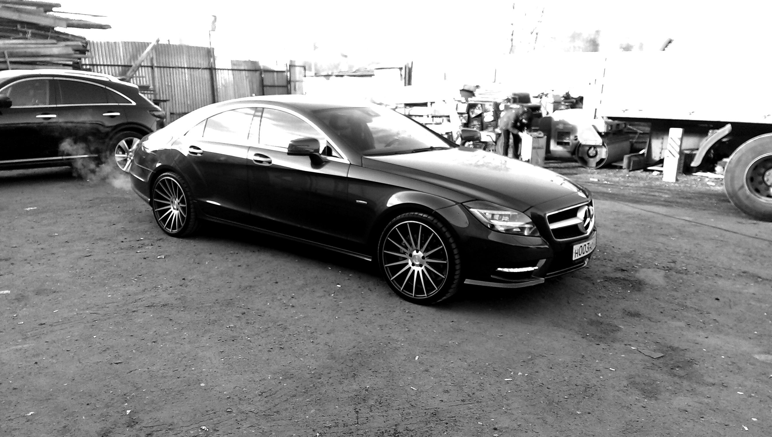 Stance Wheels SC-7 Machined Grey on Mercedes  CLS