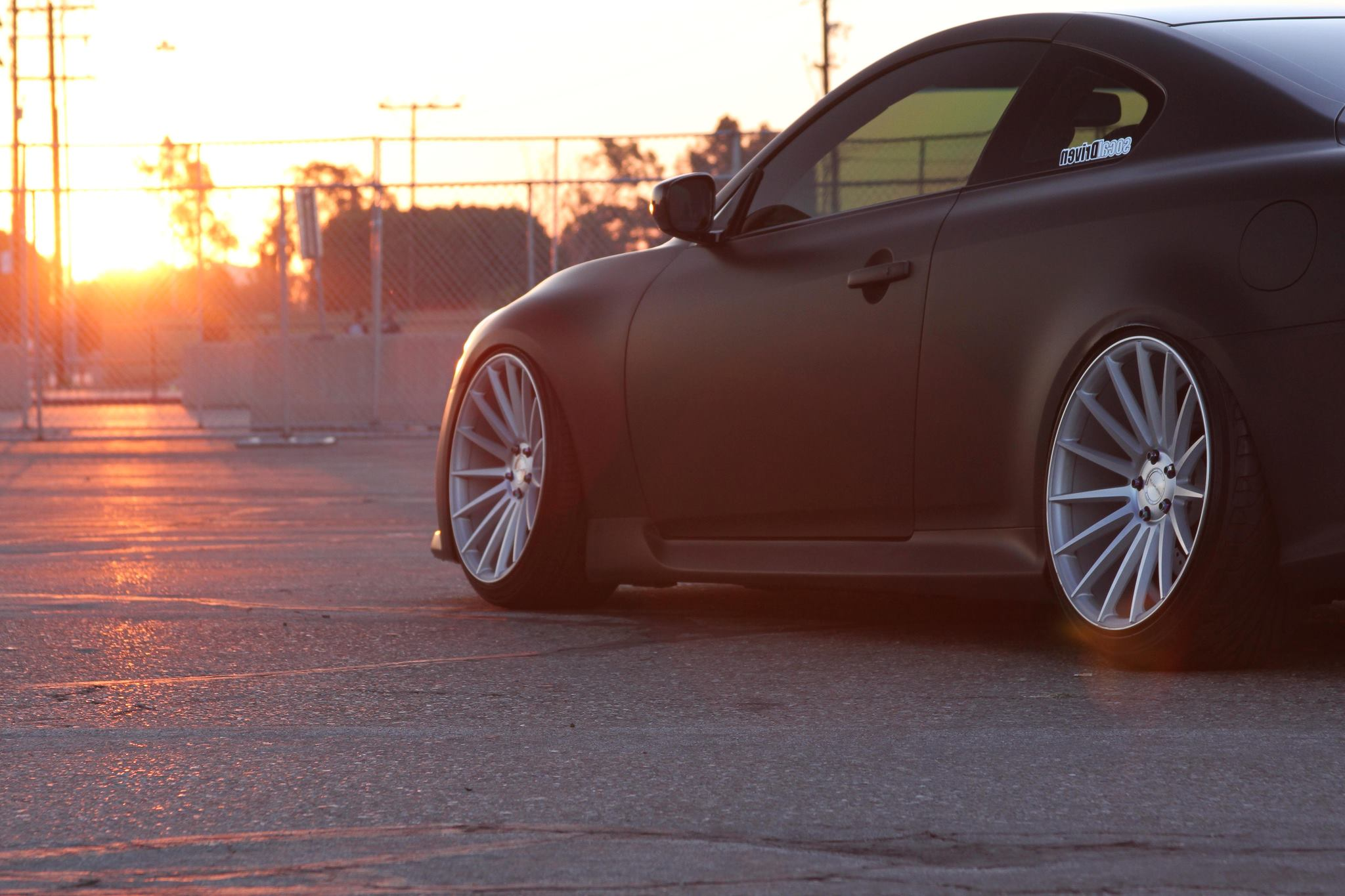 Stance Wheels SC-7 Silver on Infiniti G37S Coupe