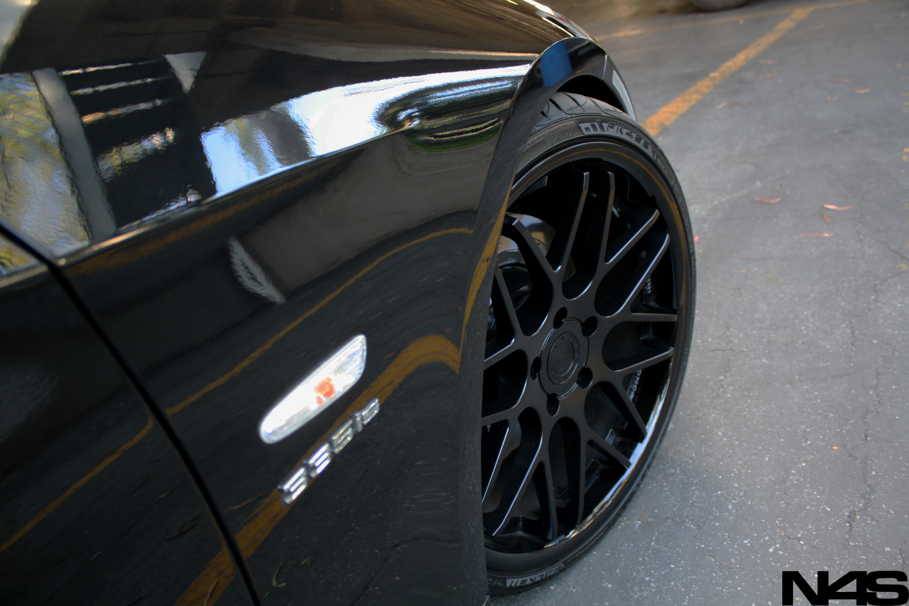 Vertini Concave Magic Matte Black 20'' on BMW 335 E92